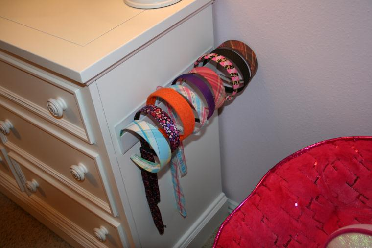 how to make a headband holder organizer